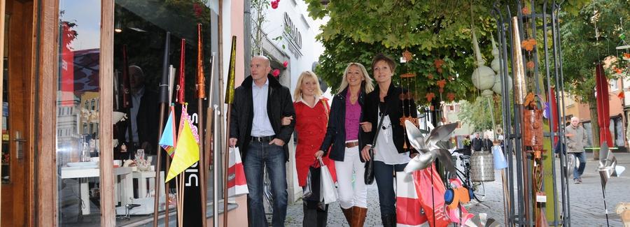 Einkaufen in Weiden in der Oberpfalz in Bayern
